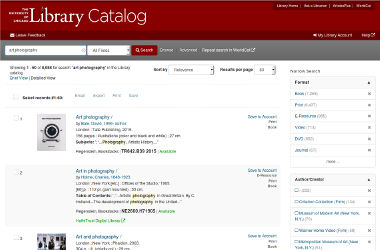 UChicago Library Catalog