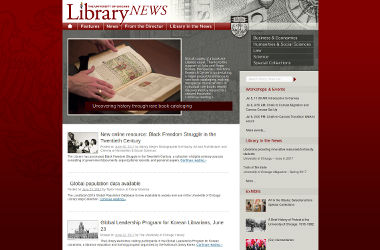 UChicago Library News Site